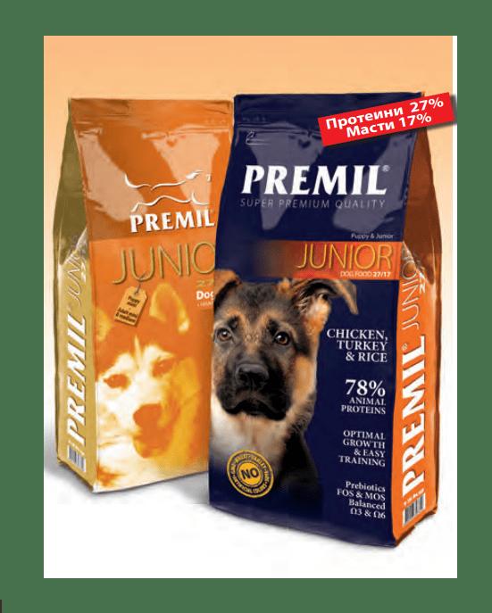 Junior - за подрастващи кучета от средни и едри породи, 15 кг