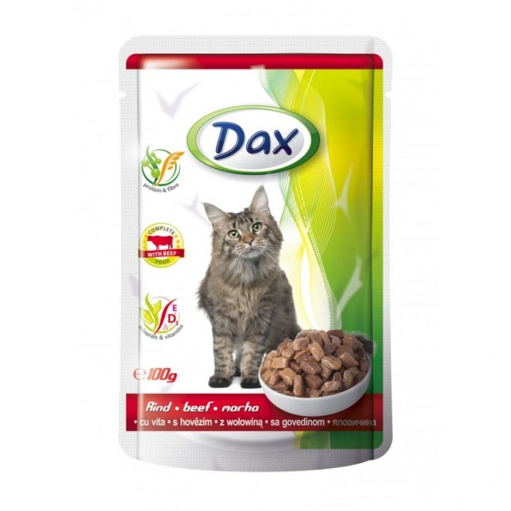 Пауч за котка Dax - различни вкусове, 100 гр.
