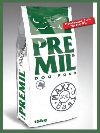 Maxi Basic 17/8 - за кастрирани и предразположени към наднормено тегло кучета, 15 кг.