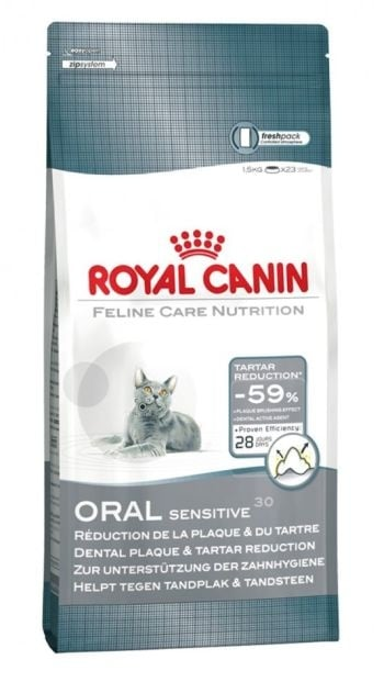 """""""Royal Canin Oral Sensitive"""" – Храна за котки с проблемни зъби и венци"""