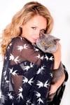 Лора Караджова и котка