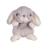 Плюшена играчка - сив заек, 15 см.