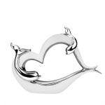 Статуетка сърце с делфин 33*7*23,5