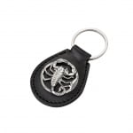 Стилен кожен ключодържател - Скорпион
