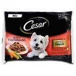 Cesar - Pouch adult пауч за кучета на средна възраст,  4 x 100 гр. - различни вкусове