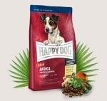 Храна за кучета дребни кучета с тегло до 10кг Happy Dog Мини Африка със щраусово месо - две разфасовки