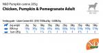 Пълноценна храна за кучета в зряла възраст N&D Pumpkin Chicken&Ponegranate ПИЛЕ, ТИКВА&НАР  - 285гр