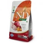 """""""N&D CAT GRAIN FREE PUMPKIN QUAIL & POMEGRANATE ADULT"""" – Пълноценна храна за котки над 1 година с тиква, пъдпъдък и нар"""