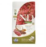 N&D QUN&D QUINOA SKIN & COAT- Пълноценна храна с киноа и патешко за кучета с чувствителен стомах, за здрава кожа и козина