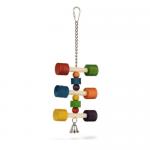 Шарена играчка за папагал - 11x31.5 см
