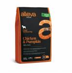 Пълноценна храна за подрастващи кучета от средни породи Alleva® Natural, с пиле и тиква, 0.800кг