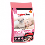 Храна за пораснали котки с намалена активност Nutraline Cat INDOOR, с пилешко месо, 1кг насипно