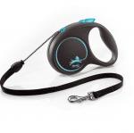 Автоматичен повод за куче Flexi Black Design, 5 метра въже за кучета до  20 кг, различни цветове