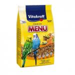 Храна за вълнисти папагали с йод и мед Vitakraft Premium Menu, две разфасовки