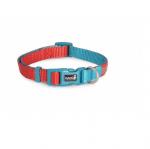 Нашийник за куче DOUBLEPREMIUM RED/TEAL, различни размери