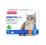 Противопаразитни пипетии за котки Beaphar Dimethicare Line On, без инсектицид, 3х1мл