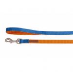 Повод за куче DOUBLEPREMIUM ORANGE/BLUE, различни размери