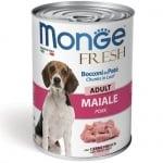 Хапки в пастет за кучета в зряла възраст Monge Fresh Adult, със свинско месо, 400гр