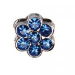 Декоративна форма с брилянти- цвете за поводи и нашийници-  2/0,5см. - два цвята
