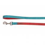 Повод за куче DOUBLEPREMIUM RED/TEAL, различни размери