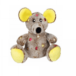 Играчка за куче мишка плюш със звук - 17 см.