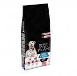 Суха храна за кучета в зряла възраст от едри породи с чувствителна кожа Purina PRO PLAN Large Adult Sensitive Skin, със сьомга, 14кг
