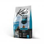 Храна за кучета от всички породи над 12 месеца Kudo Adult Adriatic Fish, с дива риба, две разфасовки
