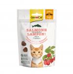 Хрупкави лакомства за котки със сьомга и малини GimCat Crunchy Snack, 50гр