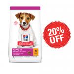 Hills - Science Plan Small&Mini Puppy с пилешко - Пълноценна суха храна за дребни и миниатюрни породи кучета от отбиване до 1 година. За бременни и кърмещи кучета - две разфасовки
