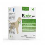 Хранителна добавка за кучета от дребни породи Dynamopet DiSenior Small, разработена за насърчаване на успешното стареене при кучета, 20брх2,5гр