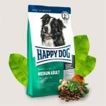 Happy Dog Adult Medium -Храна за средни породи кучета/с тегло от 11 до 15кг/ над 1 година - три разфасовки