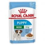 Royal Canin Mini Puppy - Консервирана храна за кутрета и млади кучета от малки породи (до 10 кг) на възраст до 10 месеца; попомага здравословния растеж и укрепва имунната система; с високо енергийно съдържание научете 85гр