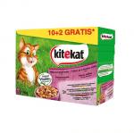 Kitekat Pouch Mix Menu in Jelly - Смесено меню в желе за котки в зряла възраст - 12 паучаx100гр.
