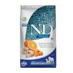 N&D ADULT MED&MAXI PUMPKIN 12KG- Пълноценна храна за кучета от средни и едри породи в зряла възраст нас 1 год. с  тиква с риба треска и портокал