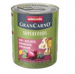Консервирана храна за кучета Animonda GranCarno Superfoods Beef, с говеждо, червено цвекло, капини, глухарче, 800гр