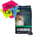 Храна за кучета от всички породи на възраст над 7 години Flatazor Prestige ADULT 7+, две разфасовки