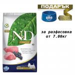 Храна за кучета в зряла възраст от дребни породи N&D PRIME Adult Mini Lamb & Blueberry, с агнешко и боровинки,7.00кг