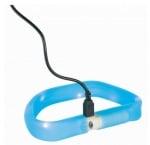 Светещ нашийник за кучета с USB Trixie, син, три размера