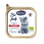 Био пастет за котки Butcher`s с 63% месно съдържание, без глутен 85гр - три вкуса