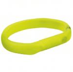 Светещ нашийник за кучета с USB Trixie, жълт, три размера