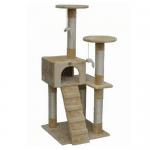 драскало за котки тип катерушка с стълбичка и къща 53 х 53 х 132 см