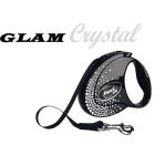 Автоматичен повод flexi GLAM с брилянти CRYSTALIZED™Swarovski 3м лента до 12кг - различни цветове
