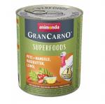 Консервирана храна за кучета Animonda GranCarno Superfoods Turkey, с пуйка, манголд, шипки, ленено масло, 800гр