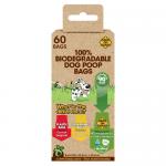Биоразградими торбички за кучешки отпадъци, 4 х 15бр