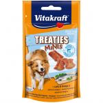 Лакомства за кучета Vitakraft TREATIES MINIS, сочни хапки със сьомга и омега 3, 48гр