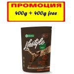 Пълноценна храна за кастрирани котки Nature`s protection Lifestyle, със сьомга и крил, без зърно, 400ГР+ 400ГР ПОДАРЪК