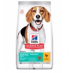 Храна с пилешко за кучета от средните породи (10-25кг) над 1 год., с наднормено тегло HILL'S SCIENCE PLAN Perfect Weight Medium Adult, две разфасовки