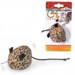 Играчка за котки - вибрираща леопардова Мишка - 7 см