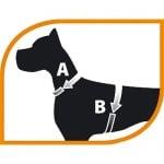 Нагръдник за куче със светлоотразителни ръбове Ferplast NIKITA -различни размери и цветове