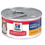 Пълноценна храна за котки над 7 г. Hill's Science Plan Mature Adult 7+ консерва с пилешко, 82гр
